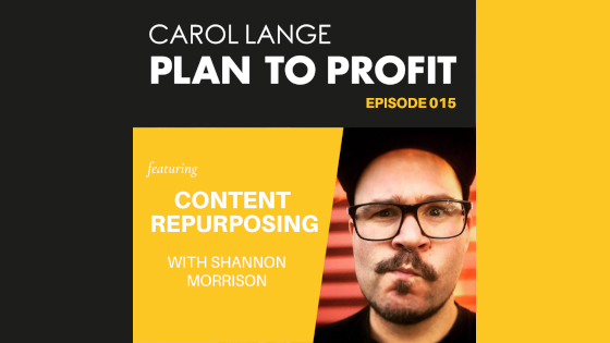 Shannon Morrison About Page Plan to Profit Podcast Banner
