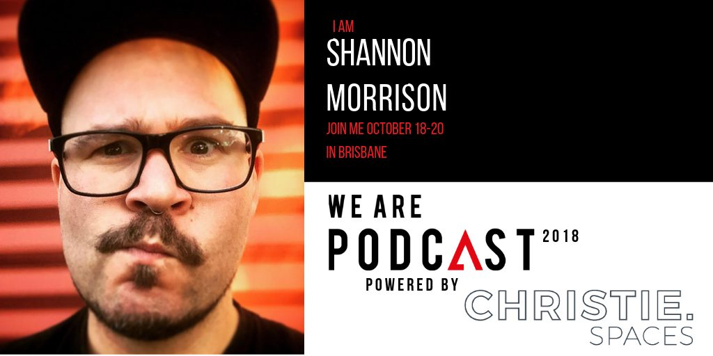 Shannon Morrison About Page We Are Podcast Banner